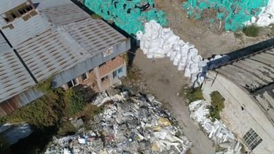 Това е складът в Плевен, където бяха намерени 9 хиляди тона отпадъци. СНИМКА: Кадър: Би Ти Ви