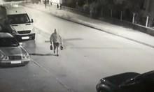 Вижте кадри на палеж на кола с 2 туби бензин във Видин