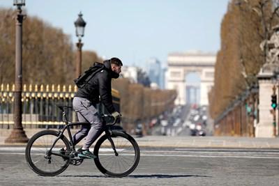 Франция е готова да плати до 50 евро на всеки, който предпочете да се движи с велосипед СНИМКА: Ройтерс