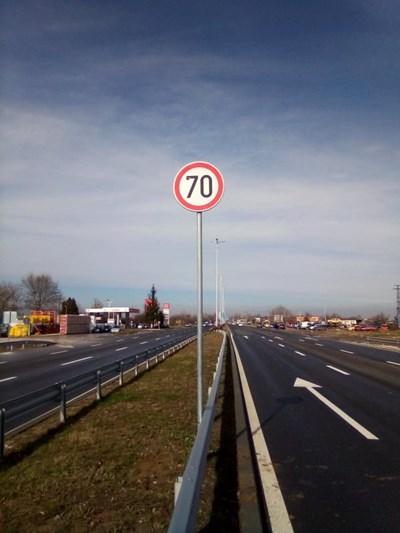 """От днес е разрешена по-висока скорост по """"Асеновградско шосе"""" в границите на Пловдив."""