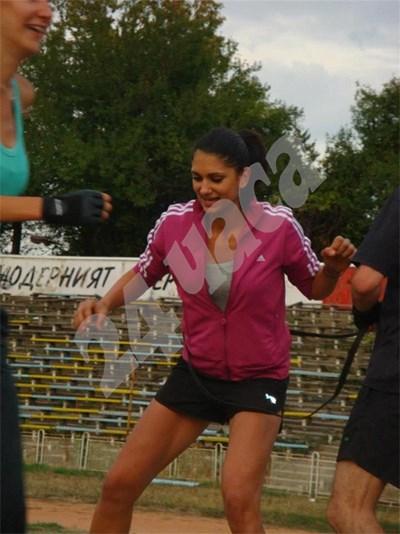 Инес Субашка обича тренировките на открито, които често са изтощителни и същевременно доста забавни. СНИМКА: 24 часа