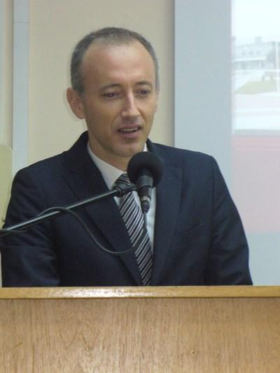 Министърът на образованието Красимир Вълчев говори пред академичната общност на Тракийския университет в Стара Загора. СНИМКА: Ваньо Стоилов