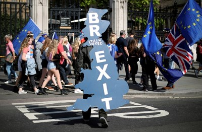 Демонстрация в подкрепа в Брекзит Снимка: Ройтерс