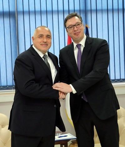 Бойко Борисов и Александър Вучич Снимка: Фейсбук