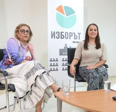 Доц. д-р Татяна Буруджиева и Марая Цветкова