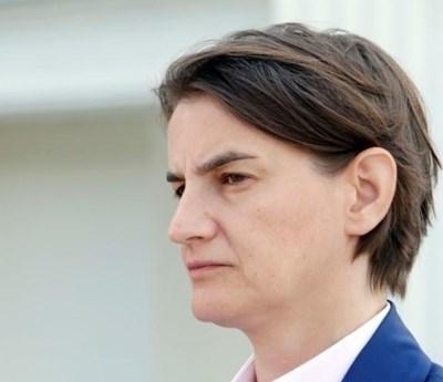 Сръбският премиер Ана Бърнабич СНИМКА: Ройтерс