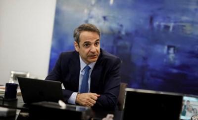 Лидерът на Нова демокрация Кириакос Мицотакис СНИМКА: Ройтерс