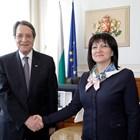 Никос Анастасиадис и Цвета Караянчева СНИМКИ: Пресцентърът на парламента