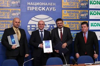 БТА подписа договор за сътрудничество с Българската фондова борса и с Българската независима енергийна борса, за да разпространява икономически новини безплатно. СНИМКА: БТА