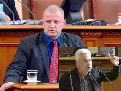Борислав Стоянов (на голямата снимка) и Волен Сидеров (долу вдясно) Снимка 24 часа, Архив