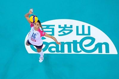 """Елица Василева и нейният """"Новара"""" (Ит) ще играят за бронзовите медали от световното клубно по волейбол. Снимка: FIVB"""