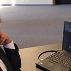 Министър Боил Банов по време на видеоконферентната среща на европейските министри на културата
