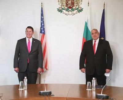 Кийт Крак и Бойко Борисов СНИМКИ: Министерският съвет