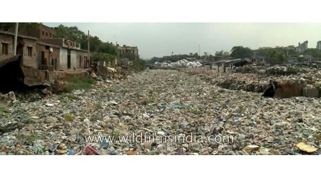 Река от боклук в Делхи влиза в океана, а ние трябва да налеем милиари, за да спрем тази ужасяваща свинщина