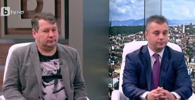 """Спортният журналист Едуард Папазян от в. """"24 часа"""" и Юлиан Ангелов от Обединените патриоти"""