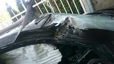 Пораженията по колата на Алексей Петров след атентата с гранатометите