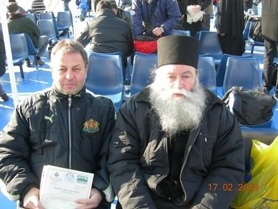 С Ловчанския владика Гавриил във ферибоота към Атон