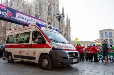 Линейка на Червения кръст в Милано СНИМКИ: ЧЕРВЕН КРЪСТ - МИЛАНО