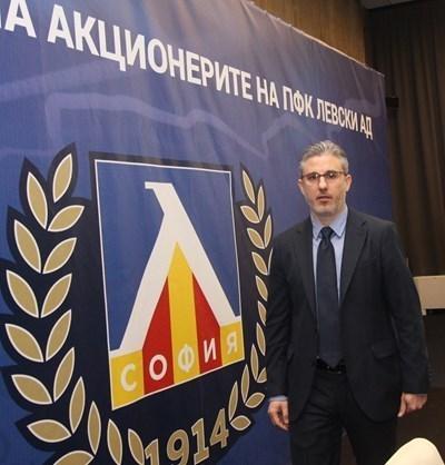 """Изпълнителният директор на """"Левски"""" Павел Колев СНИМКА: НИКОЛАЙ ЛИТОВ"""