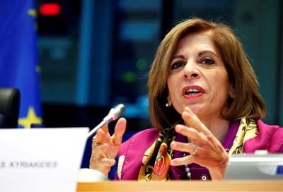 Европейският комисар по здравеопазване Стела Кириакидис. Снимка: Ройтерс