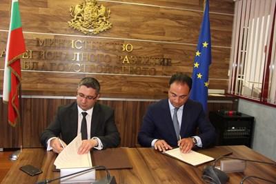 Николай Нанков и Сам Мизрахи подписаха споразумение за евентуално строителство на магистрали.