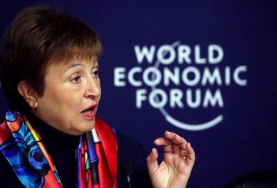 Кристалина Георгиева на форума в Давос СНИМКА: РОЙТЕРС
