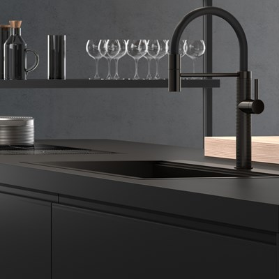 Черната кухня - стил без следа от докосване