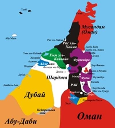 ОАЕ Карта: Уикипедия