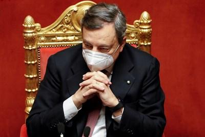 Министър-председателят на Италия Марио Драги. СНИМКА: РОЙТЕРС