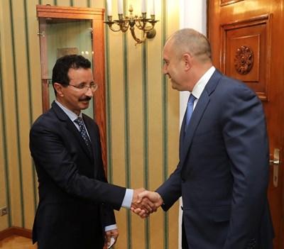 Султан Ахмед бин Сулайем и Румен Радев  СНИМКИ: Прессекретариат на президентството