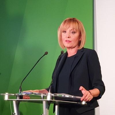 Мая Манолова представи управленската си програма, която съдържа над 340 мерки. СНИМКИ: АВТОРЪТ