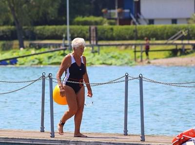 Жаклин Ранси - баба Жаклин, по време на тренировка СНИМКА: Фейсбук