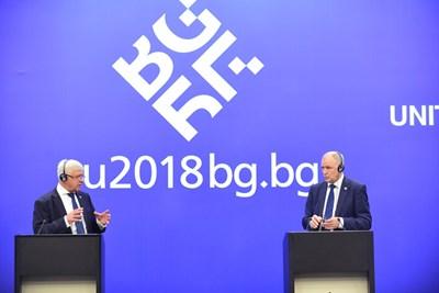 Министър Кирил Ананиев и еврокомисар Витянис Андрюкайтис представиха диксутираните теми по време на срещата на министрите на ЕС.