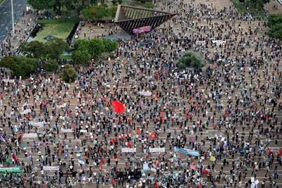Хиляди израелци протестираха в Тел Авив  СНИМКА: РОЙТЕРС