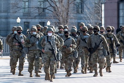 На територията на целия Вашингтон има около 25 хиляди членове на Националната гвардия СНИМКИ: Ройтерс