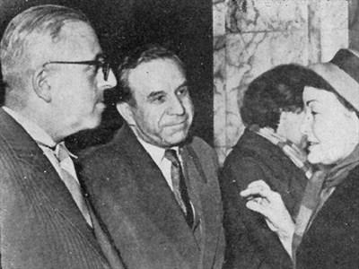 Димитър Димов с Петър Динеков и Елисавета Багряна