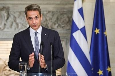 Премиерът на Гърция Кириакос Мицотакис СНИМКА: Ройтерс