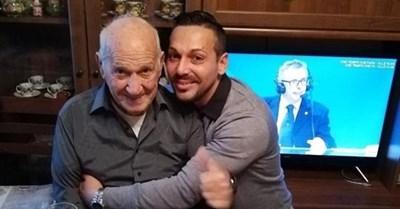 Джовани Дзампино с баща си СНИМКА: ФЕЙСБУК