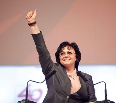 """Корнелия Нинова лично предложи да се въведе пряк избор на председател на БСП и ще е първата лидерка, която ще мине през такъв. СНИМКИ: """"24 ЧАСА"""""""