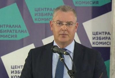 Говорителят на ЦИК Александър Андреев КАДЪР: БНТ