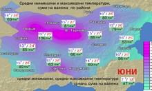 Юни: хлад, жега и дъжд следобед, риск от градушки