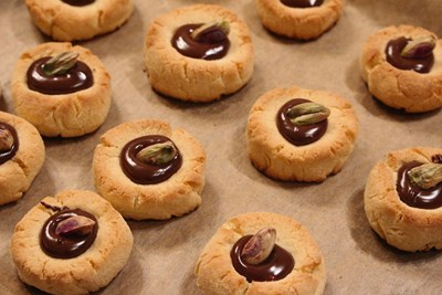 Сладки с шамфъстък и шоколад