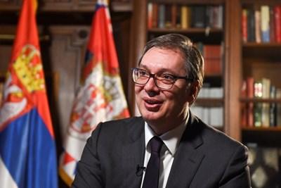 Сръбският президент Александър Вучич. СНИМКА: Ройтерс
