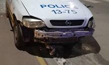 Пиян помля умишлено с джипа си два полицейски автомобила във Велинград