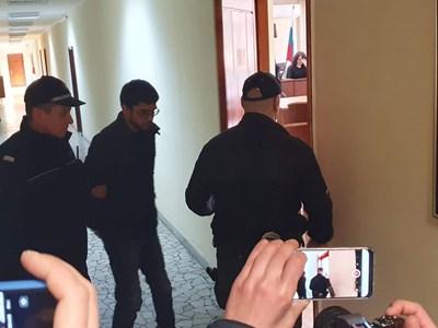 Обвиняемият Николай Василев бе мълчалив в съда. Снимка:Елена Фотева