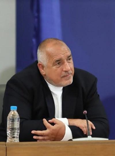 Премиерът Бойко Борисов СНИМКИ: Правителствена информационна служба