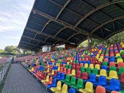 """Това е четирихилядният стадион """"Даугава"""". Снимки Авторът"""