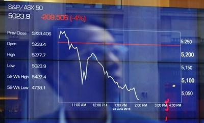 Индексът на борсата в Австралия Снимка: Ройтерс