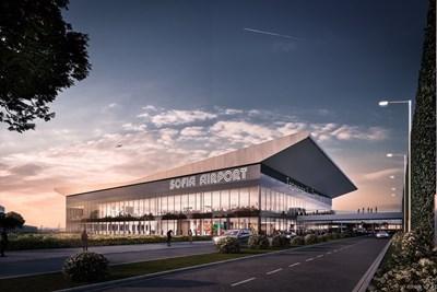 """Така изглежда терминал 3 според проекта на """"Соф Кънект""""."""