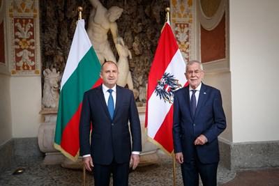 Президентът Радев е на работно посещение в Австрия по покана на колегата си Ван дер Белен. Снимки прессекретариат на държавния глава